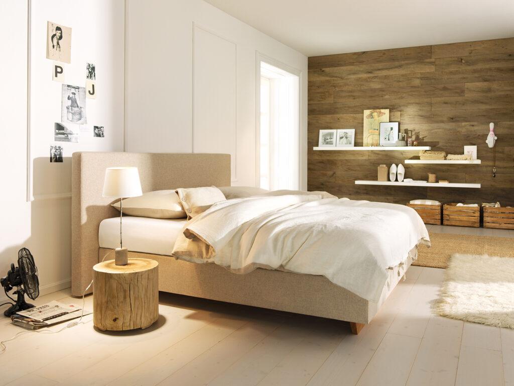 Massivholzbett metallfrei mit Bettwaren von ProNatura